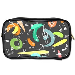 Repetition Seamless Child Sketch Toiletries Bags 2 Side