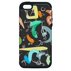 Repetition Seamless Child Sketch Apple Iphone 5 Hardshell Case (pc+silicone)