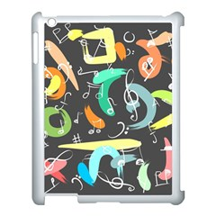 Repetition Seamless Child Sketch Apple Ipad 3/4 Case (white) by Nexatart