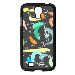 Repetition Seamless Child Sketch Samsung Galaxy S4 I9500/ I9505 Case (black) by Nexatart