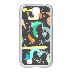 Repetition Seamless Child Sketch Samsung Galaxy S4 I9500/ I9505 Case (white)