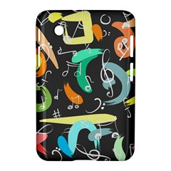 Repetition Seamless Child Sketch Samsung Galaxy Tab 2 (7 ) P3100 Hardshell Case  by Nexatart