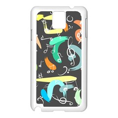 Repetition Seamless Child Sketch Samsung Galaxy Note 3 N9005 Case (white)