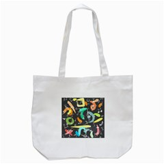 Repetition Seamless Child Sketch Tote Bag (white)