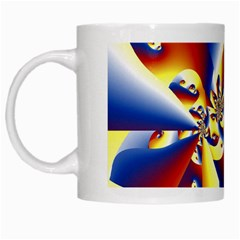 Mandelbrot Math Fractal Pattern White Mugs by Nexatart