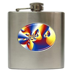 Mandelbrot Math Fractal Pattern Hip Flask (6 Oz)