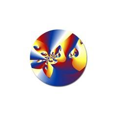 Mandelbrot Math Fractal Pattern Golf Ball Marker (10 Pack)