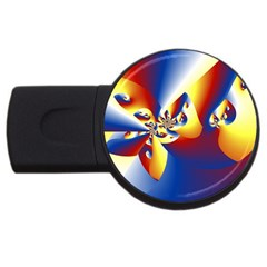 Mandelbrot Math Fractal Pattern Usb Flash Drive Round (2 Gb)