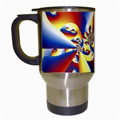 Mandelbrot Math Fractal Pattern Travel Mugs (white)