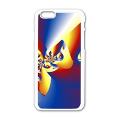 Mandelbrot Math Fractal Pattern Apple Iphone 6/6s White Enamel Case by Nexatart