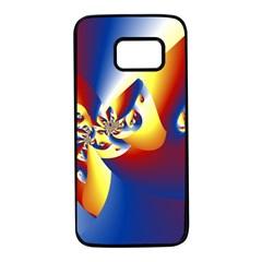 Mandelbrot Math Fractal Pattern Samsung Galaxy S7 Black Seamless Case by Nexatart