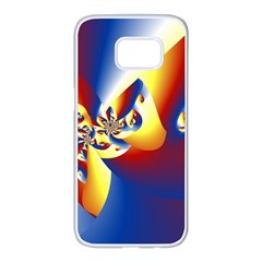 Mandelbrot Math Fractal Pattern Samsung Galaxy S7 Edge White Seamless Case