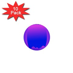 Abstract Bright Color 1  Mini Buttons (10 Pack)