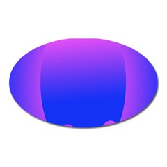 Abstract Bright Color Oval Magnet by Nexatart