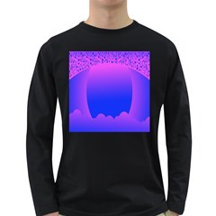 Abstract Bright Color Long Sleeve Dark T Shirts