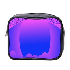 Abstract Bright Color Mini Toiletries Bag 2 Side