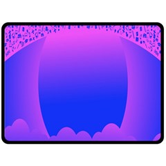 Abstract Bright Color Fleece Blanket (large)