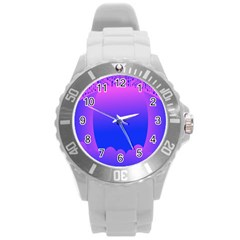 Abstract Bright Color Round Plastic Sport Watch (l)