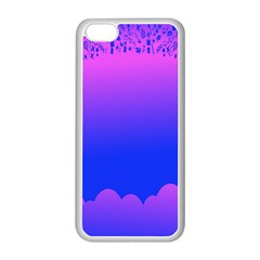 Abstract Bright Color Apple Iphone 5c Seamless Case (white)