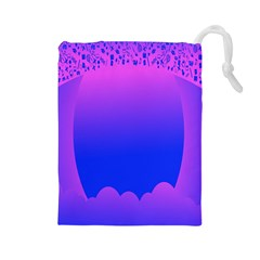 Abstract Bright Color Drawstring Pouches (large)