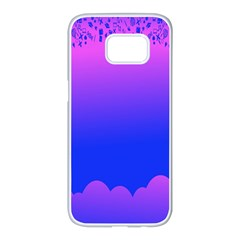 Abstract Bright Color Samsung Galaxy S7 Edge White Seamless Case