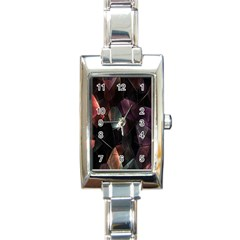Crystals Background Design Luxury Rectangle Italian Charm Watch