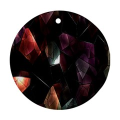 Crystals Background Design Luxury Ornament (round)