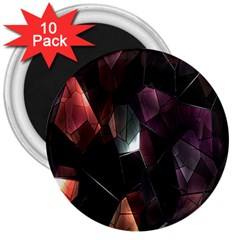 Crystals Background Design Luxury 3  Magnets (10 Pack)