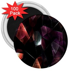 Crystals Background Design Luxury 3  Magnets (100 Pack)