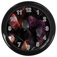 Crystals Background Design Luxury Wall Clocks (black)