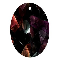 Crystals Background Design Luxury Oval Ornament (two Sides)