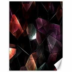 Crystals Background Design Luxury Canvas 12  X 16