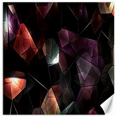Crystals Background Design Luxury Canvas 20  X 20   by Nexatart