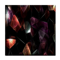 Crystals Background Design Luxury Face Towel