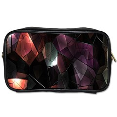 Crystals Background Design Luxury Toiletries Bags 2 Side