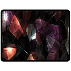 Crystals Background Design Luxury Fleece Blanket (large)