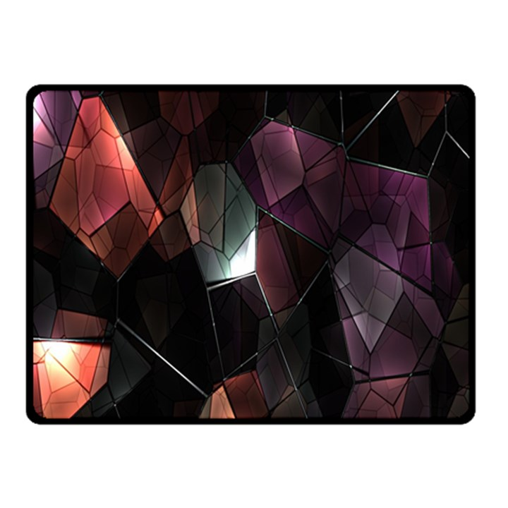 Crystals Background Design Luxury Fleece Blanket (Small)