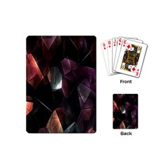 Crystals Background Design Luxury Playing Cards (mini)