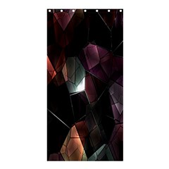 Crystals Background Design Luxury Shower Curtain 36  X 72  (stall)