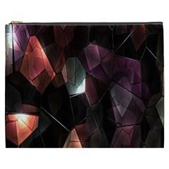 Crystals Background Design Luxury Cosmetic Bag (xxxl)