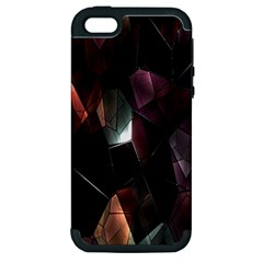 Crystals Background Design Luxury Apple Iphone 5 Hardshell Case (pc+silicone) by Nexatart