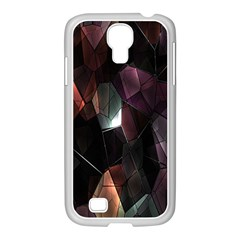 Crystals Background Design Luxury Samsung Galaxy S4 I9500/ I9505 Case (white)
