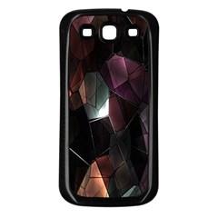 Crystals Background Design Luxury Samsung Galaxy S3 Back Case (black)