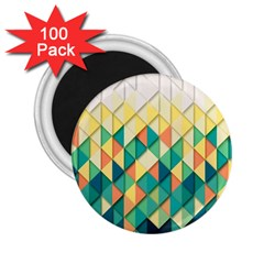 Background Geometric Triangle 2 25  Magnets (100 Pack)