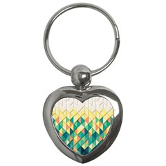 Background Geometric Triangle Key Chains (heart)