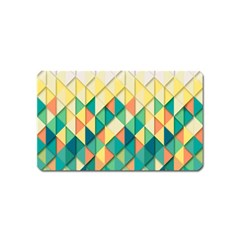 Background Geometric Triangle Magnet (name Card)
