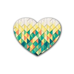 Background Geometric Triangle Rubber Coaster (heart)