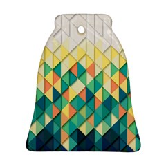Background Geometric Triangle Bell Ornament (two Sides)