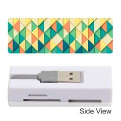 Background Geometric Triangle Memory Card Reader (stick)