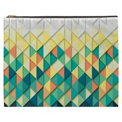 Background Geometric Triangle Cosmetic Bag (xxxl)